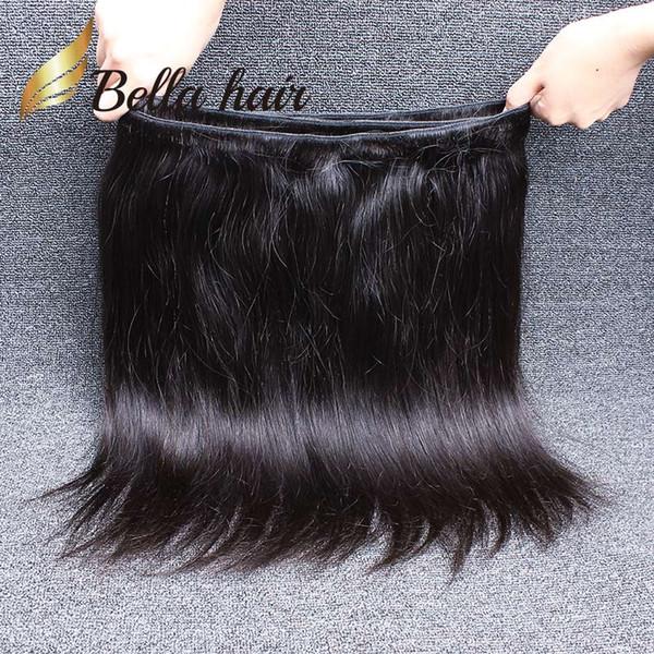 Bella Hair® 8A Hint Saç Demetleri Işlenmemiş Bakire Doğal Renk İnsan Saç Örgüleri Çift Atkı İpeksi Düz 2 Demetleri Ücretsiz Kargo