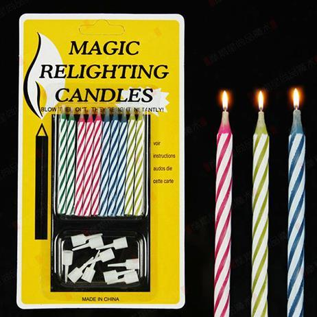 best selling Magic Funny Relighting candle Joke Birthday Party Candles Cake Accessory Christmas Festive Holiday Wedding supplies favors