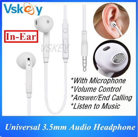 Stereo In-Ear Earphones Headphone For Samsung Galaxy S6 S7 Edge A3 A5 Huawei Xiaomi Sony LG Android Cellphone With Mic & Volume Control