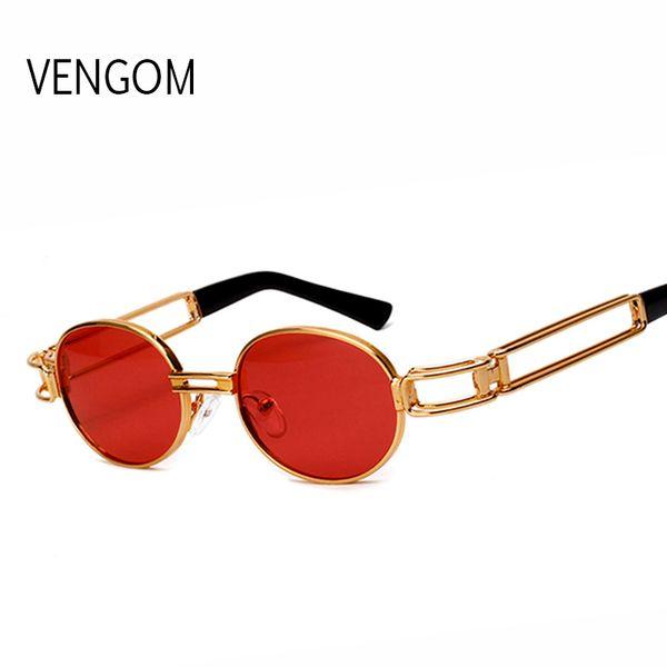 b8e799600b New Round Circle Steampunk Sunglasses Men Women Vintage Retro Sunglass  Brand Design Mirror Lens Luxury Quality