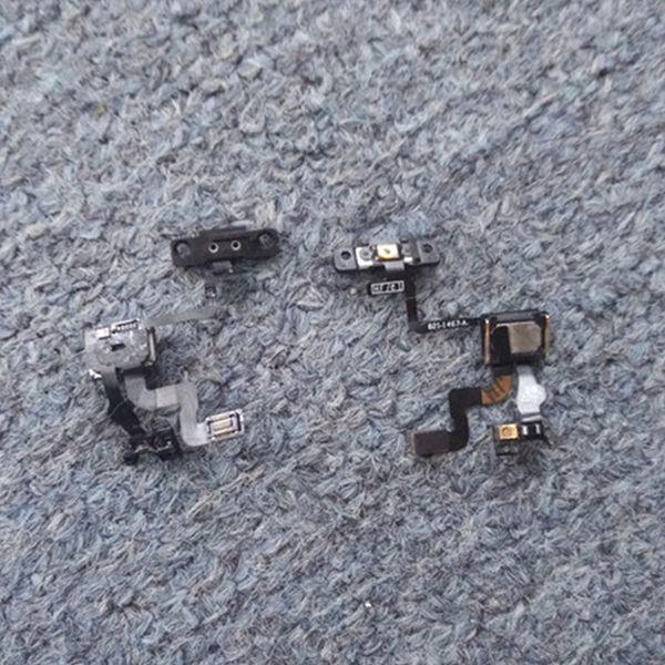 Cable flex original del botón de encendido / bloqueo con piezas de repuesto del soporte del auricular para iPhone 4 4S 4GS Envío gratuito