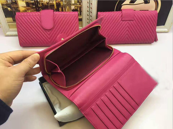 Wholesale Fab Price lady wedding original genuine leather lady card holders Key Pouch zip Accessory Pouch super cute vintage Wallet