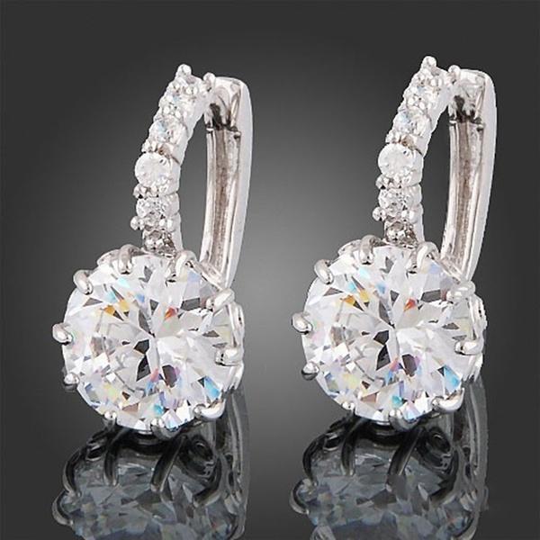 Großhandel neue 925 Sterling Silber Ohrbügel Kristall Strass Creolen