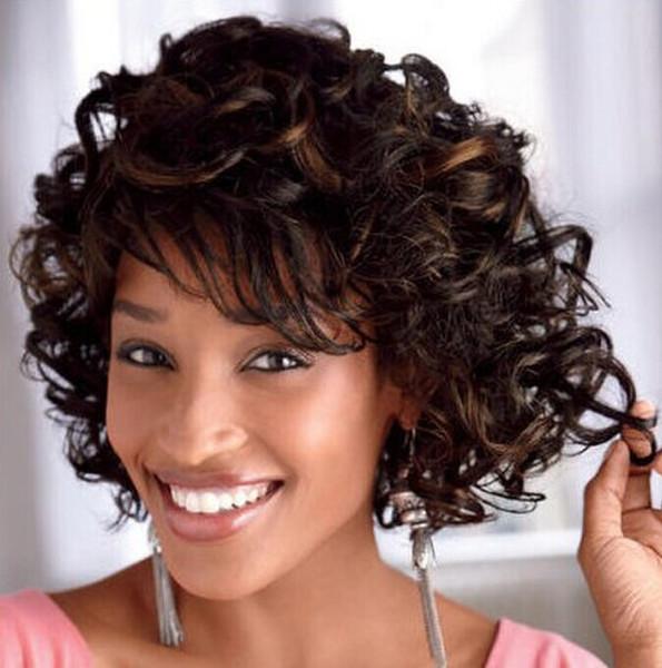 Xiu Zhi Mei vendita calda parrucca parrucca moda breve parrucca sintetica parrucca riccia marrone con frangia laterale per le donne Melanie Martinez Pruiken Synthetische