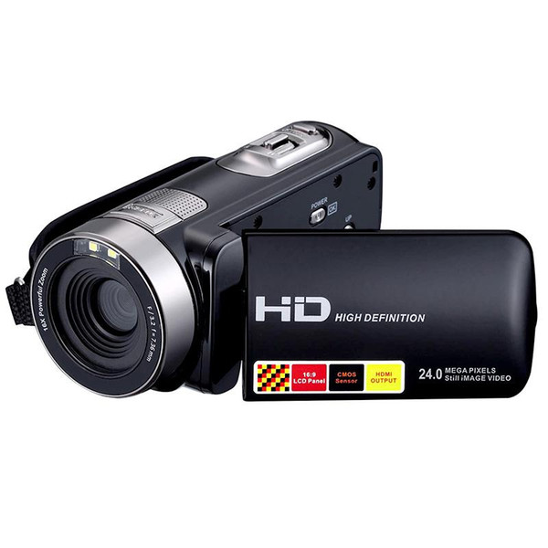 Wholesale-New 1080P 24MP Digital Camera Recorder Camcorder DV DVR 3.0'' Inch LCD 16x Zoom Cam High Quality Fast Shipping