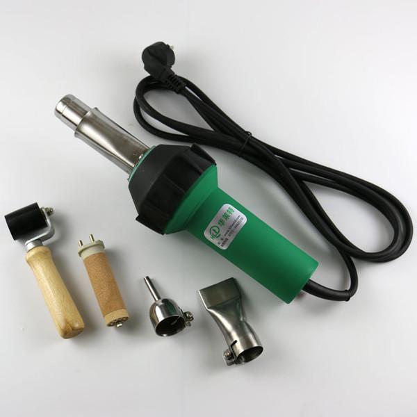 Vendita calda 1600 W Pistola termica ad aria calda Saldatrice in PVC Strumenti di saldatura in plastica con accessori 4pcs