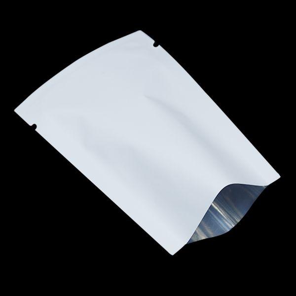 100Pcs/Lot Matte White / Green Flat Open Top Aluminum Foil Bag Vacuum Heat Seal Packaging Pouches Food Coffee Tea Mylar Foil Bag