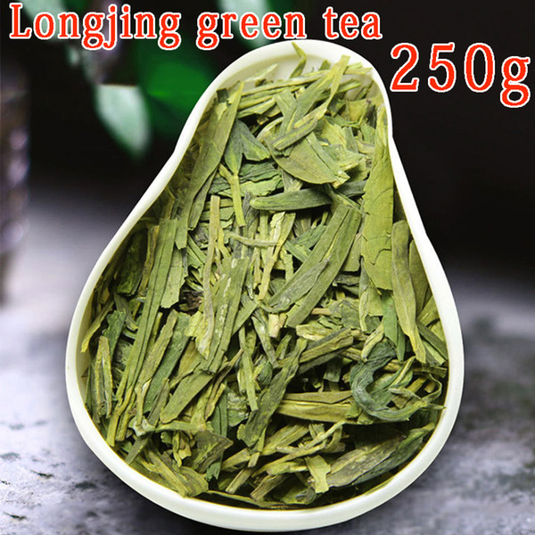 good 2019 new handmade dragon well organic green tea, good quality mingqian west lake longjing tea leaves 250g +gift ing