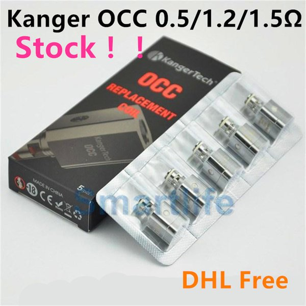 Kanger Subtank Replacement Coils OCC Coils 0.5 1.2 1.5ohm Subtank Series NEBOX SUBVOD SUBOX mini nano kit Topbox mini Kit