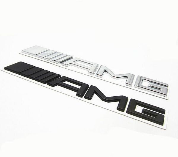 Metal Black Silver Chrome 3M AMG Decal Sticker Logo Emblem Free Shipping New Hot Good quality Car Badges