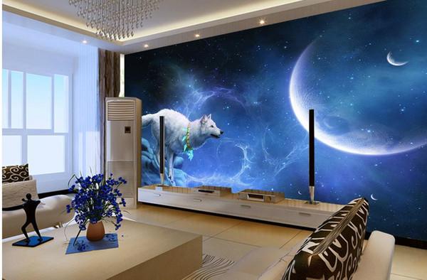 Luxury European Modern Wolf Spirit Fantasy Beautiful Cool Background Wall Decoration Painting Desktop Wallpaper Free Desktop Wallpaper High Resolution