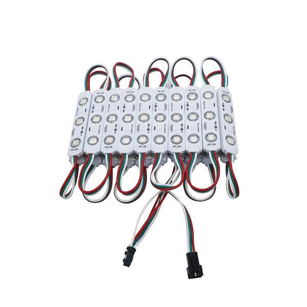 Compre Edison2011 Ws2811 Smd 5050 3 Módulos Led Módulos De Lentes De Inyección Color Mágico 64 Modos Cambio Impermeable Envío Gratis A 0 5 Del