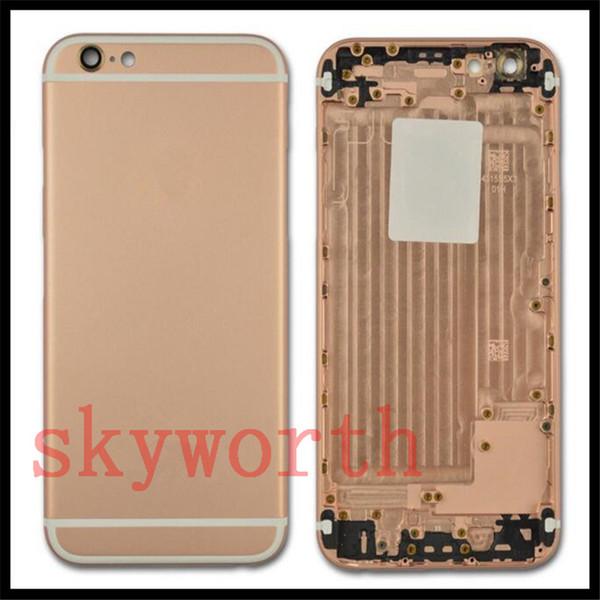 Perfeito! Para o iphone 7 6 6 s + além de 4.7 5.5 bateria de alumínio voltar tampa da caixa de habitação + botões laterais logotipo da bandeja do cartão sim
