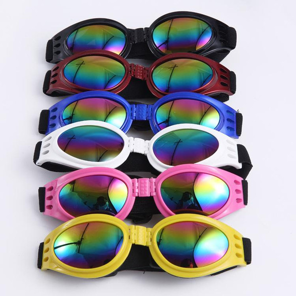 Foldable Pet Glasses Dog Sunglasses for Small Medium Large Dogs UV Eye Protection Glasses Doggles Grooming Accessories 6 Color