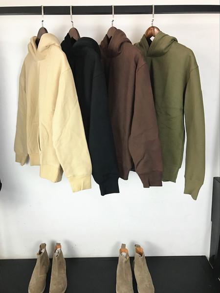 2017 Autum Winter Fashion Hot Mens Mit Kapuze Hoodies Einfarbig Warm fleece Pullover Hoodie Sweatshirts Kostenloser versand