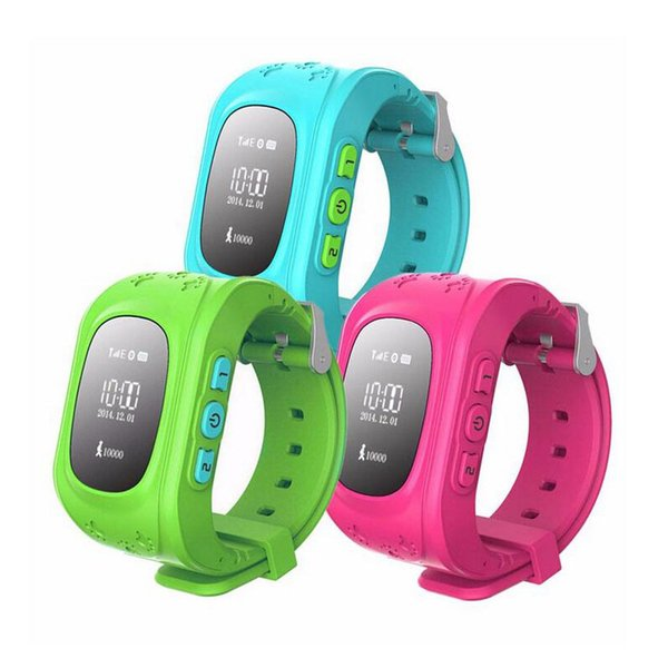 HQ Anti perso GPS Tracker Watch per bambini SOS emergenza GSM Smart Phone App per IOS Android Smartwatch Wristband Alarm
