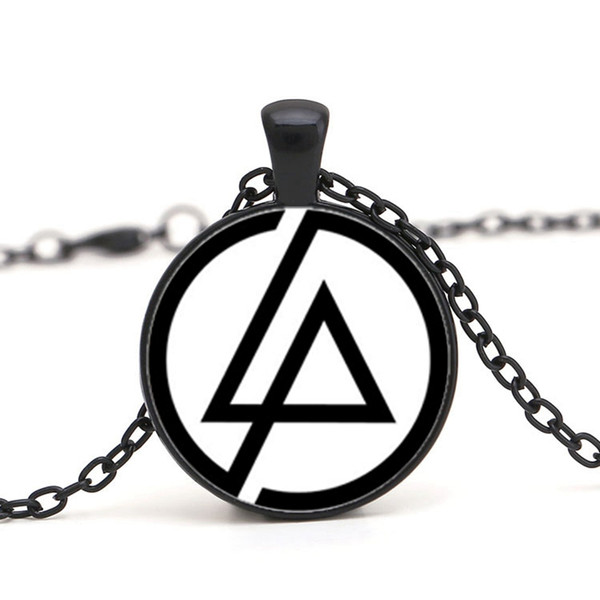 2017 Fashion Fans Linkin Park Logo Necklace Jewelry 25mm Dome Glass Lincoln Park Band Pendant Necklaces For Men Party Gifts Chain Choker Canada 2019