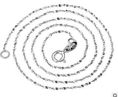 Sterling Silver 1MM Slim Seeds Chain Short Choker Necklace for Pendant Charms 45cm/40cm for Women Girls Best Gift