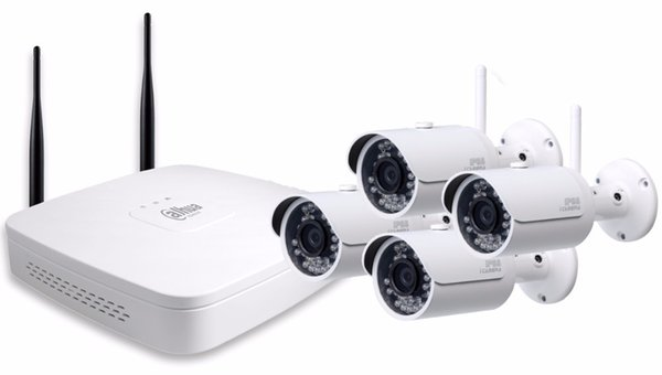 DAHUA 4ch Wifi NVR NVR4104-W System Kit with 4pc Wireless Camera bullet IP Camera DH-IPC-HFW1320S-W 3MP Security Camera Kit