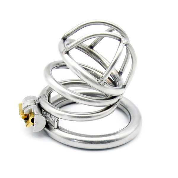 Latest Design Male Stainless Steel 52mm Length Penis Cock Cage Chastity Belt Device Cock ring BDSM Sex toys