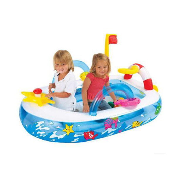 Mini Funny Boat Ocean Ball Pool Inflatable Toy Sea Ball Pit for Child Kid Outdoor Play
