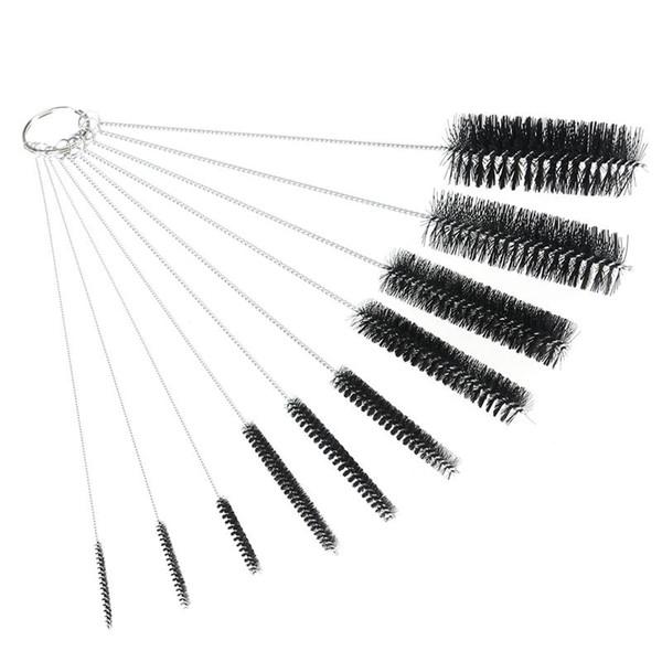 10pcs tube en nylon brosse ensemble brosse de nettoyage pour pailles à boire verres claviers bijoux nettoyage nettoyage fournitures de maison