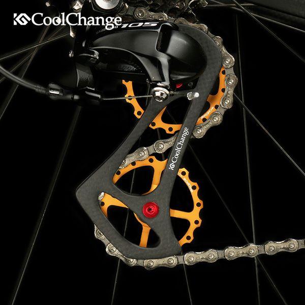 Drivetrain 17T Bike Ruote in fibra di carbonio con cuscinetti in carbonio Ruote posteriori deragliatore per bici da strada Per Sram etap