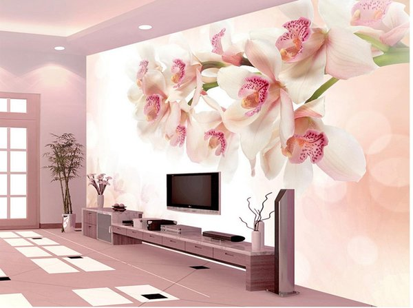 best selling flower background wall decoration painting mural 3d wallpaper 3d wall papers for tv backdrop