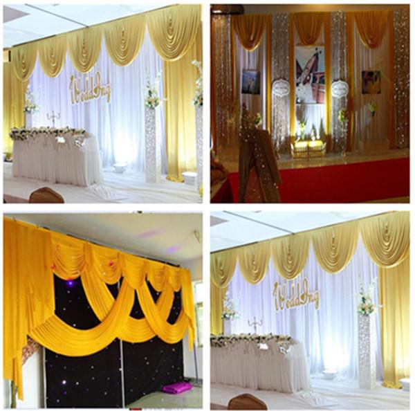 Großhandel Luxuriöse Dekoration Goldene Hochzeit Swag Hochzeit Drapieren Hochzeit Dekoration Backdrop3 6m Für Event Dekoration Von Hmzsusan 8031