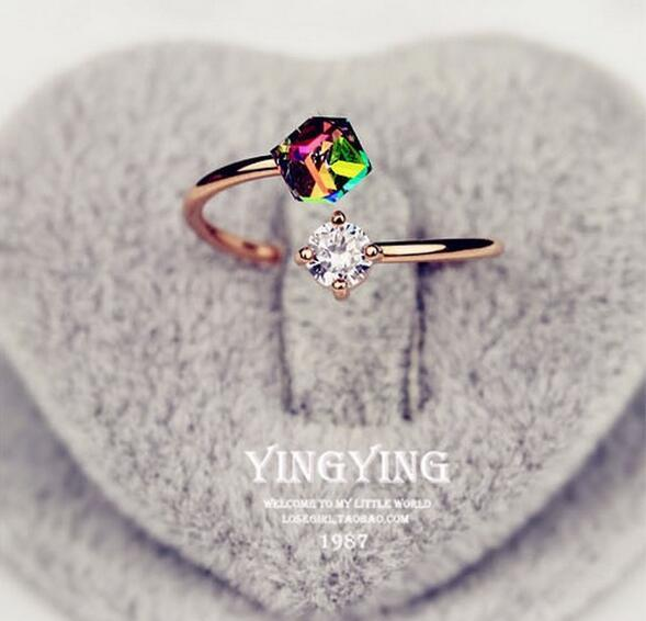 best selling Valentine 's Day gift diamonds rose gold retro zircon ring ring influx of women' s ring free shipping