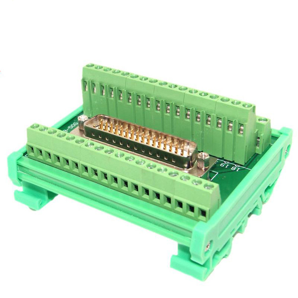 DB50 Male socket D Sub terminal block breakout board adapter cable connector DIN Rail Type