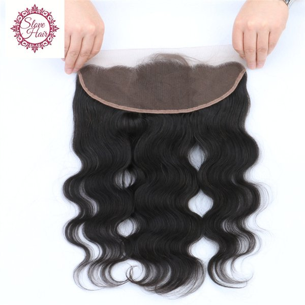 FedEX Free 8A Human Hair Bra Peruvian Lace Frontal Closure 13x4 With Baby Hair Free Bleached Knots Virgin Body Wave Lace Frontals