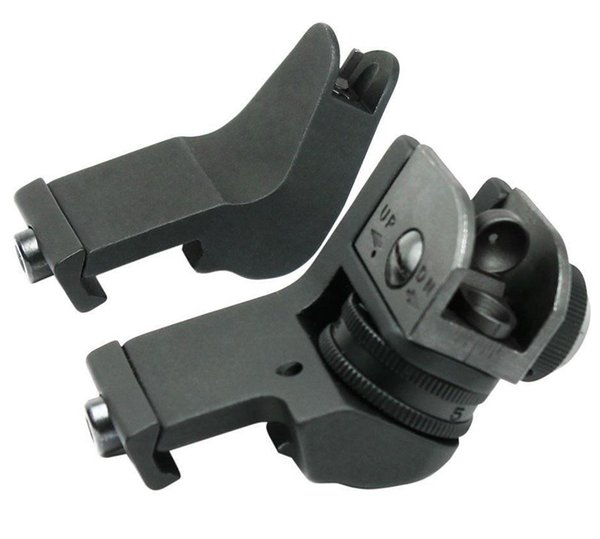 45 Degree Angled Aluminum Front & Rear Sights Offset Rapid Transition Backup Iron Sight Set Hunting Shooting