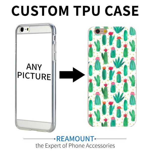100 pcs custom diy case personalizado imprimir planta tpu macio capa para iphone 5s 7 7 mais 6 6 mais personalizar a bandeira nacional case