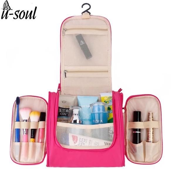 Al por mayor-viaje organizador bolsa unisex mujeres bolsa de cosméticos colgando bolsas de maquillaje de viaje lavado kits de aseo kits de almacenamiento SC0362S