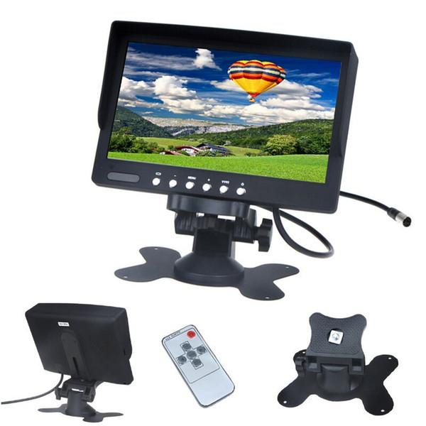best selling 7 Inch TFT Car Desktop Monitor PZ708 800 RGB 480 PALNTSC DC 12V 24V 2 Way Video Input Automatically Display When Reversing DHL