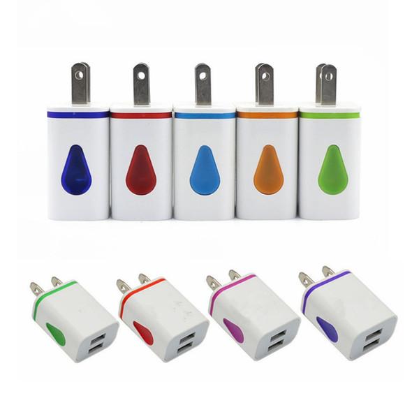 Beleuchten Sie LED-Doppel-USB-Häfen Hauptadapter Wechselstrom-US-EU-Stecker-Wand-Ladegerät für Smartphone