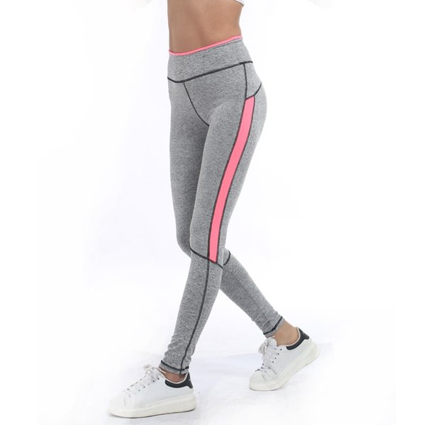 top popular 2017 Women Lady Activewear Pink Legging Spring Summer light grey Pant Autumn High Waist Leggins 1208 American Original Order 02 2019