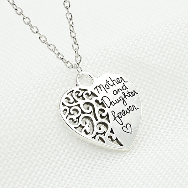 Mother's Day Gift Necklaces Mother and Daughter Eternal Love Pendant Necklace Sweater Chain Necklace for Women Birthday Jewelry