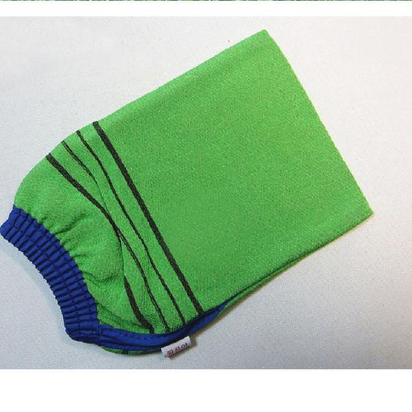 top popular Double sided Korea hammam scrub mitt magic peeling glove exfoliating tan removal mitt free shipping WA1635 2019