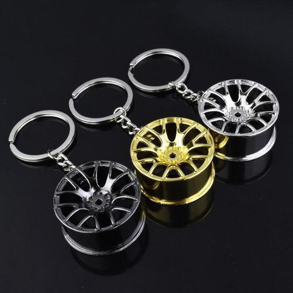 New Design Zinc Alloy Wheel Hub Keychains Metal Hub Model Keyrings Keyfob Creative Gifts For Man Key Chain Keychain