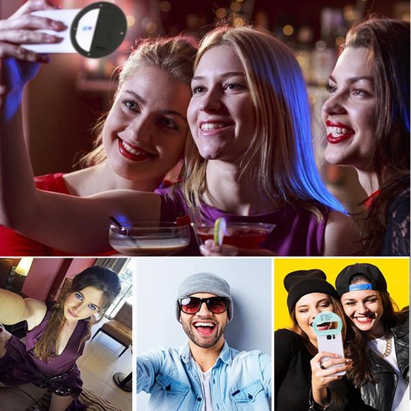 LED Selfie Portable Flash 36 LED Schönheit Licht Kamera Lichter Telefon Ring Licht Verbesserung der Fotografie für Smartphone