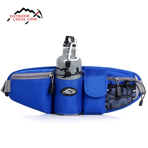 Wholesale- LOCAL LION Sports Waist Bag Pack Outdoor Water Bottle Belt Bag Running Hiking Bicycle Cycling Pannier Road Bike Ride Waist Bags