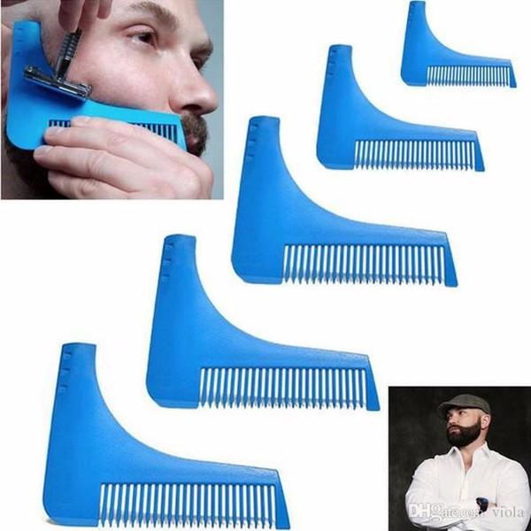 Nova Barba Barba Bro Shaping Ferramenta para Linhas Perfeitas Aparador de Pêlos para Os Homens Guarnição Modelo de Corte de Cabelo Cavalheiro Modelagem Pente 100 pcs
