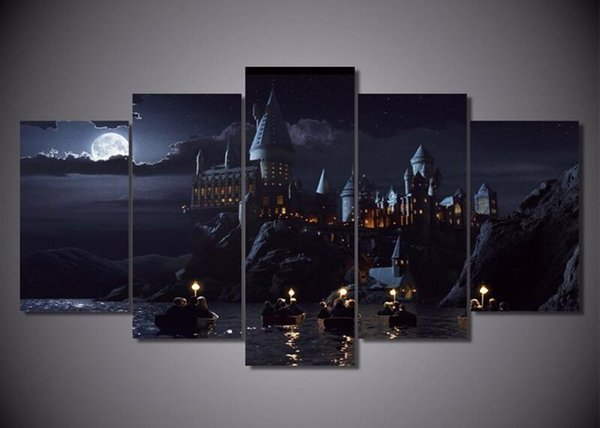 5 Piece Wall Art Canvas Prints Harry Potter School Movie Posters Wall Painting Modular Art Picture For Living Room Home Decor