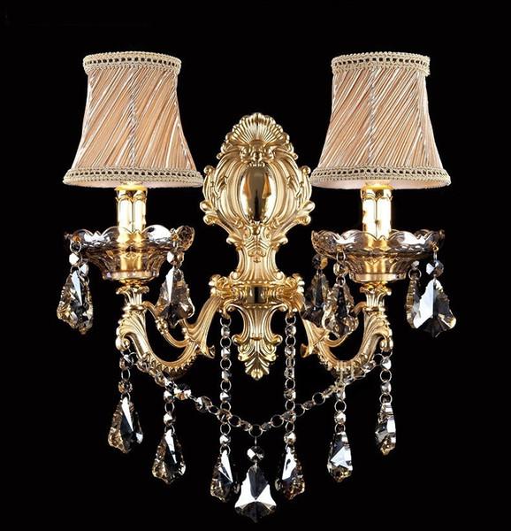 Moda cristal lâmpada de parede Sconce vela lâmpada de parede escada quarto lâmpada de cabeceira espelho luz
