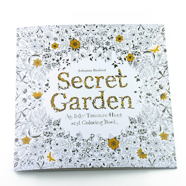 secret garden fantasy dream enchanted forest animal kingdom inky coloring book children adult painting books - Kids Painting Book