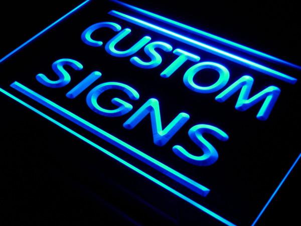 Personnalisez votre propre design Led Neon Sign 7 couleurs Multicolore 4 tailles Interrupteur marche / arrêt Prix de vente en gros