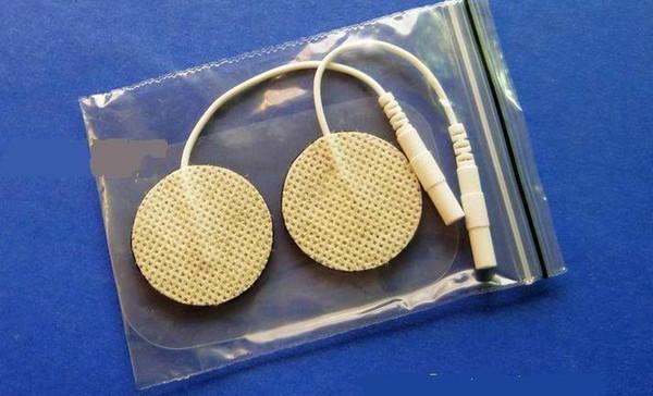 20pcs Mini Premium Self-adhesive Electrodes Pads Round Reusable Replacement Massage Pads for Tens unit/EMS face beauty Pulse Massage