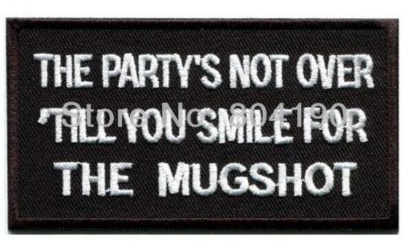 Parti üzerinde değil Komik sloganı bira retro komik esprili Biker Vest Demir On Patch Geri Ceket aplike toptan dropship